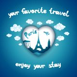 Your favorite travel. Travel background for Paris city Stock Photography