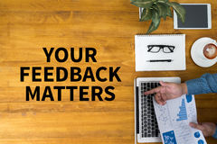 YOUR FEEDBACK MATTERS Royalty Free Stock Photo
