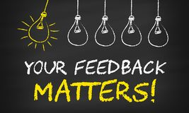 Free Your Feedback Matters On Blackboard Stock Photo - 150318630