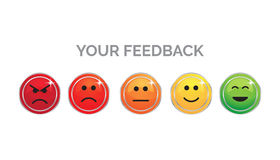 Your feedback - people expressions vector Royalty Free Stock Image