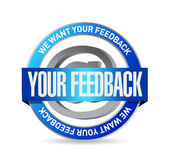 Your feedback seal illustration design Stock Photography