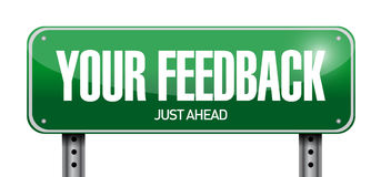 Your feedback street sign illustration Royalty Free Stock Images