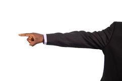 Your Fired. This is an image of a businessman pointing away to say Your Fired Stock Image