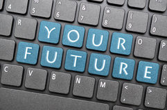 Your future on keyboard Stock Image