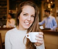 Your Girl Drinking Royalty Free Stock Image