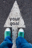 Your goal sign Stock Photo
