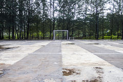 Your goal. A soccer field near my work place Royalty Free Stock Image