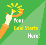 Your Goal Starts Here Motivation Illustration Royalty Free Stock Photo