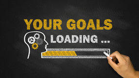 your goals loading concept Royalty Free Stock Images