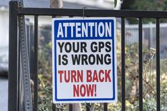 Free Your GPS Is Wrong Stock Photography - 161097802