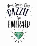 Your Green Eyes dazzle like Emerald Stock Photography