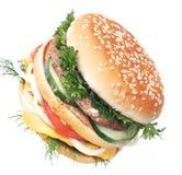 Your hamburger, sir Royalty Free Stock Photo