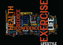 For Your Health Exercise Reduce Size And Gain Confidence Word Cloud Concept Royalty Free Stock Photography