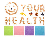 Your health made from cereal. On white background Royalty Free Stock Photography