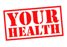 YOUR HEALTH. Red Rubber Stamp over a white background Stock Photo