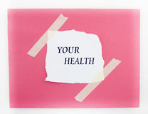 Your Health Red And White Background Royalty Free Stock Photography