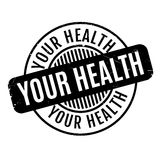 Your Health rubber stamp Royalty Free Stock Images