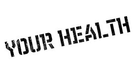Your Health rubber stamp Stock Images