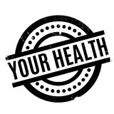 Your Health rubber stamp Stock Photography