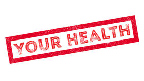 Your Health rubber stamp. On white. Print, impress, overprint Royalty Free Stock Images