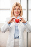 Your heart in good hands. Royalty Free Stock Photo