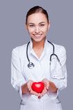 Your heart in good hands. Stock Photo