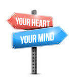 Your heart, your mind illustration design Royalty Free Stock Photo