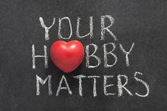 Your hobby matters Royalty Free Stock Photography