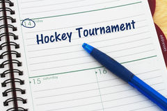 Your hockey tournament schedule Stock Image