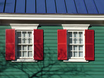 Your Home. Detail of a colorful urban/sururban home Royalty Free Stock Photo