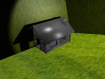 Your home in the green. A 3d illustration on the concept of the home in the green stock illustration