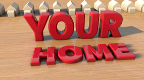 Your home and house Royalty Free Stock Photography