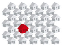Your house amond others houses Royalty Free Stock Photos