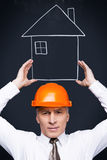 Your house is in the right hands. Royalty Free Stock Photography