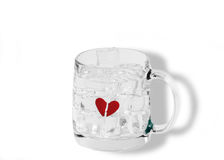 Your ice broke my heart and froze it Stock Photography
