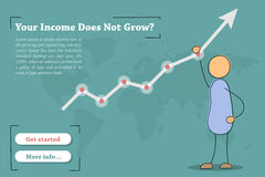 Your income does not grow - banner Stock Images