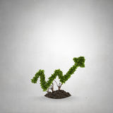 Your income growth. Glass light bulb and green growing graph inside Royalty Free Stock Photography