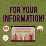 For Your Information concettuale di rappresentazione di scrittura della mano Le informazioni del testo della foto di affari sono  illustrazione vettoriale