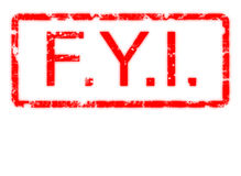 For Your Information de Grunge na beira Fotografia de Stock Royalty Free