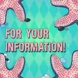 For Your Information de la demostración de la muestra del texto Se comparte la información conceptual de la foto y que ninguna fo ilustración del vector
