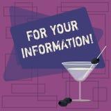 For Your Information di rappresentazione del segno del testo Le informazioni concettuali della foto sono divise e che nessun vino illustrazione vettoriale
