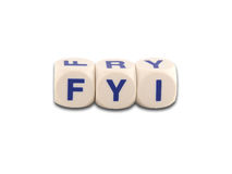 For Your Information do FYI Fotografia de Stock Royalty Free