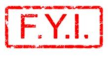 For Your Information grunge en cadre Photographie stock libre de droits
