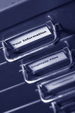 Your information label on filing cabinet Royalty Free Stock Photo