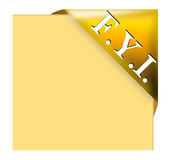 For your information memo tag Royalty Free Stock Image