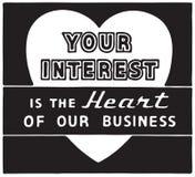 Your Interest. Retro Ad Art Banner stock illustration