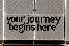 Your journey begins here Royalty Free Stock Photos