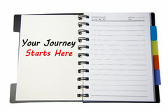 Your journey starts here Royalty Free Stock Photo