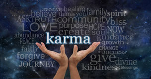 Your Karma is in Your Hands Royalty Free Stock Images