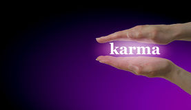 Your Karma is in Your Hands Royalty Free Stock Photo